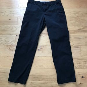 Tommy Hilfiger classic fit black khaki pants